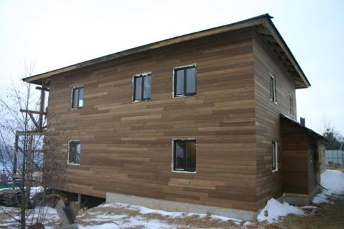 Фасад дома в Подмосковье - термососна